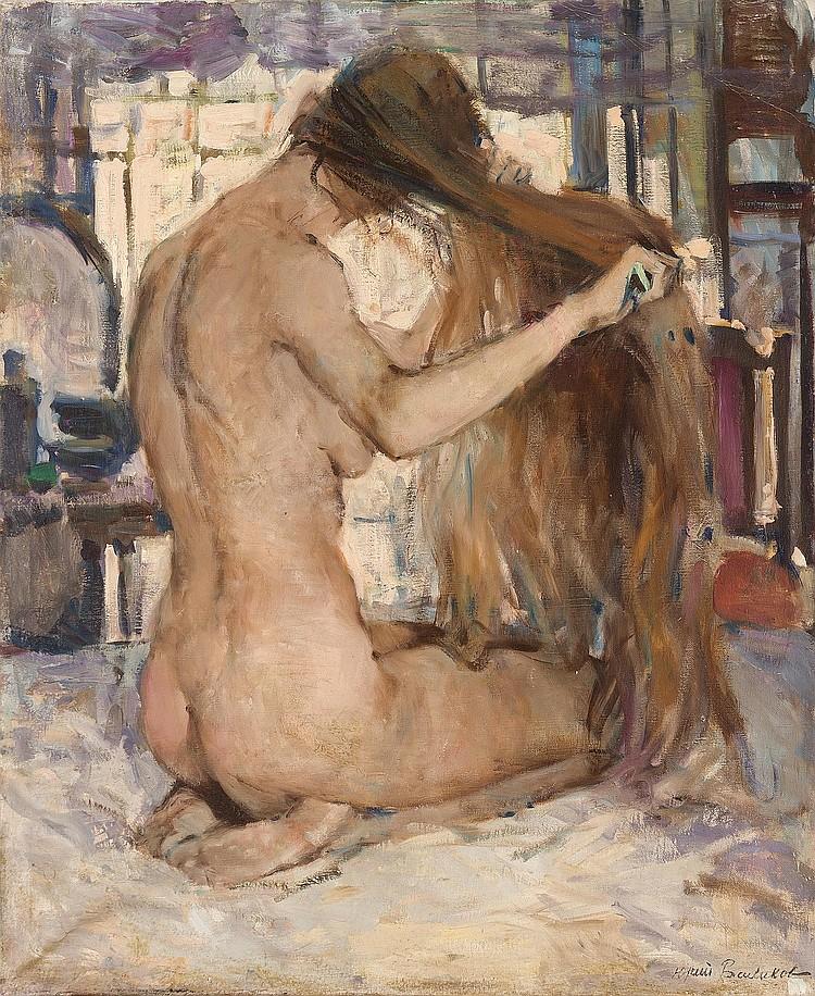 Youri BALIKOV (Russie, 1924)   Nu se peignant