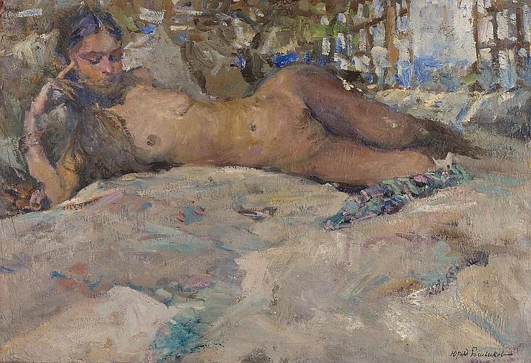 Youri BALIKOV (Russie, 1924)   Nu allongé