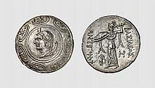 MACEDON, A SILVER TETRADRACHM OF ANTIGONOS II GONATAS, Amphipolis, ca. 274-260 BC, 16.647g, 12h. SNG Berry 354. Lightly toned with underlying luster. Virtually as struck and almost Fdc. Acquired privately from Tradart The obverse type probably