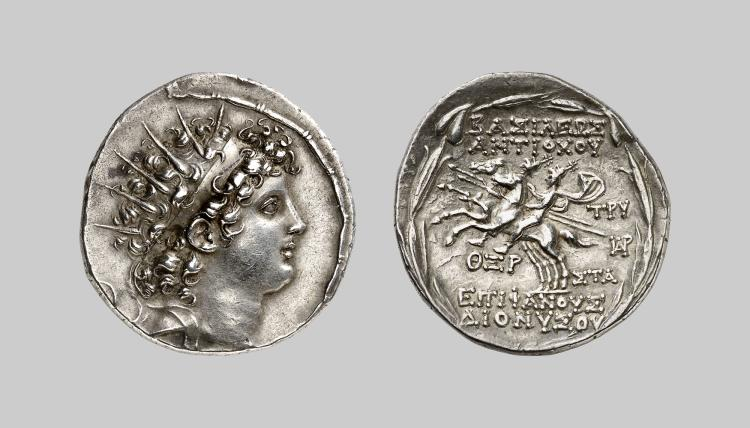 Syria silver tetradrachm of antiochos vi for Furniture 2000 antioch ca