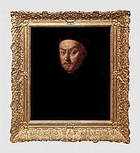 Ecole française du XVIIIème siècle. Moine en habit noir. Huile sur toile. 63 x 51,5 cm.
