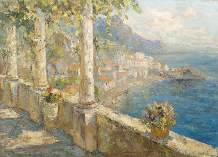 BERKOS MIKHAIL (1861 - 1919)   Amalfi, 1913