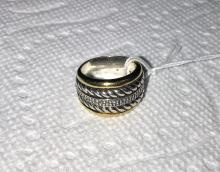 David Yurman original Ring. 14K Gold & Sterling Silver with Diamonds