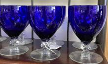 Cobalt Blue Water Goblets