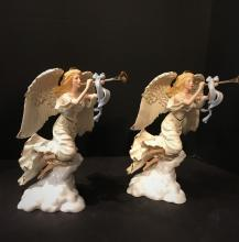PAIR of  Lenox Millenium Herald Angels