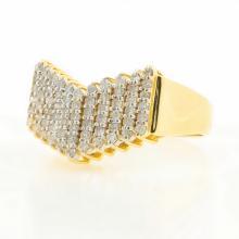 Vintage Classic Estate 18K Yellow Gold Ladies Diamond