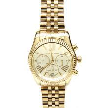 Michael Kors MK-5556 Gold Tone Stainless Steel Chronograph Womens Watch MK5556