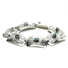 Estate 925 Silver Ladies Native American Inspired Turquoise Ornate 7