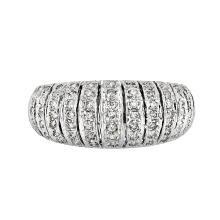 Elegant Modern 14K White Gold Women's Sparkling Diamond Ring - Brand New