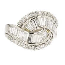 Stylish Modern Platinum Women's Charming Diamond Ring 2.78CTW - Brand New