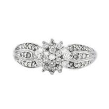 Gorgeous Modern 14K White Gold Women's Sparkling Diamond Ring - Brand New
