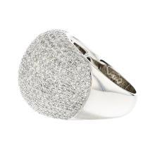 Exquisite Modern 18K White Gold Women's Diamond Ring - 2.96CTW - Brand New