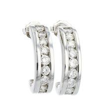 Elegant 14K White Gold Women's Modern Diamond Earrings 1.60CTW - Brand New