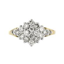 Stunning 14K Yellow Gold Women's Sparkling Diamond Ring - Brand New