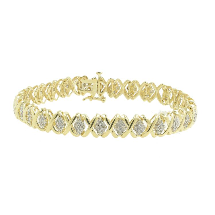 Classic Ladies 14K Yellow Gold Natural Diamond 8