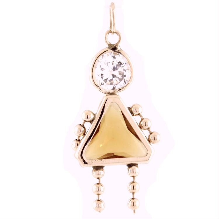 Charming Modern Ladies 14K Yellow Gold
