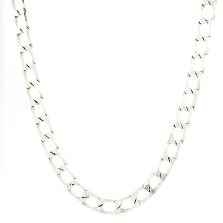 Stylish Men's 925 Sterling Silver Curb Link 20