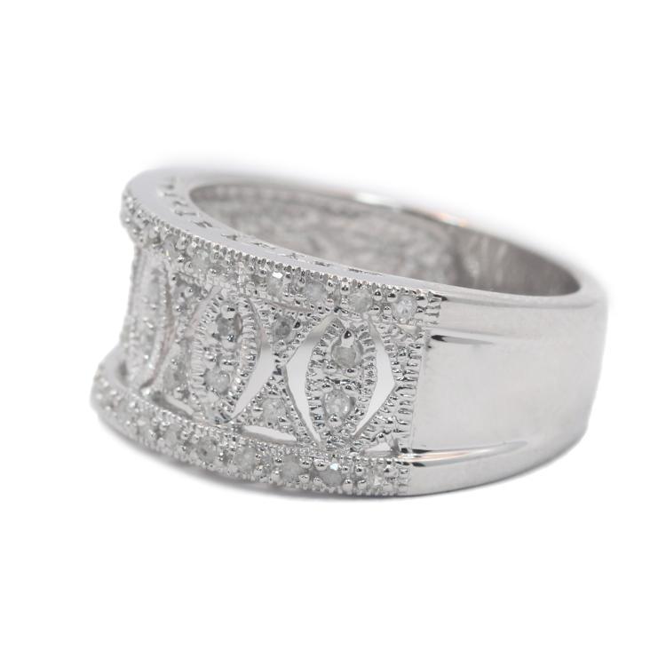 Gorgeous Modern 14K White Gold Diamond Ladies Ring Band - 0.30CTW