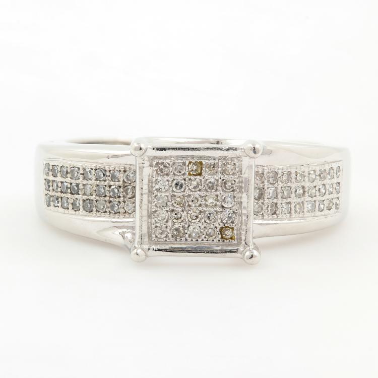 NEW Modern Ladies 10K White Gold Diamond Engagement Ring Jewelry - 0.50CTW