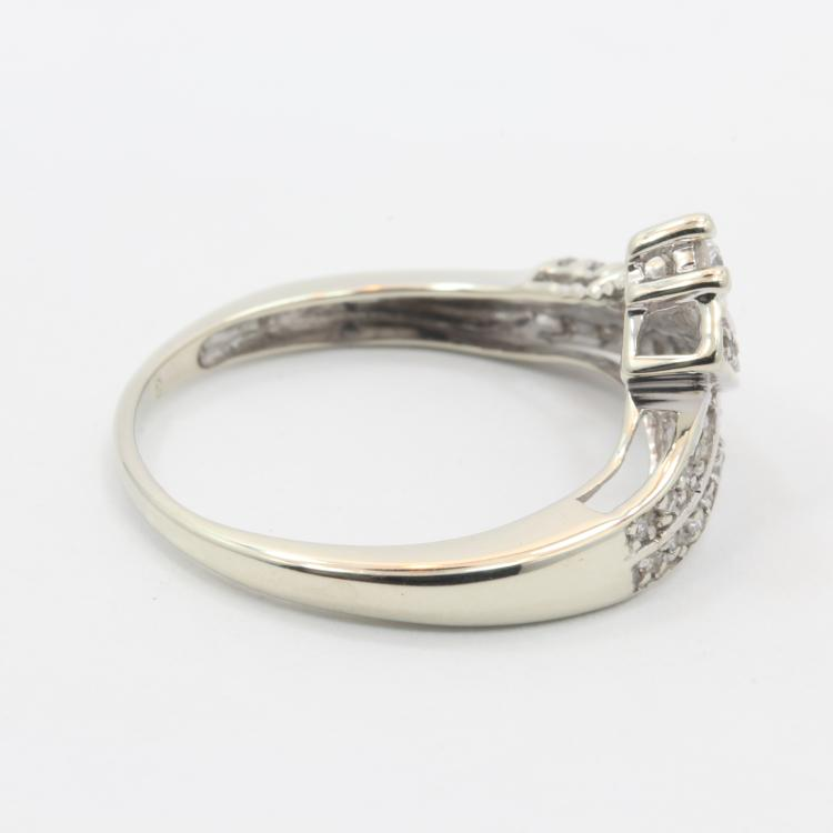 Vintage Classic Estate Ladies 10K White Gold Diamond Ring Jewelry - 0.50CTW
