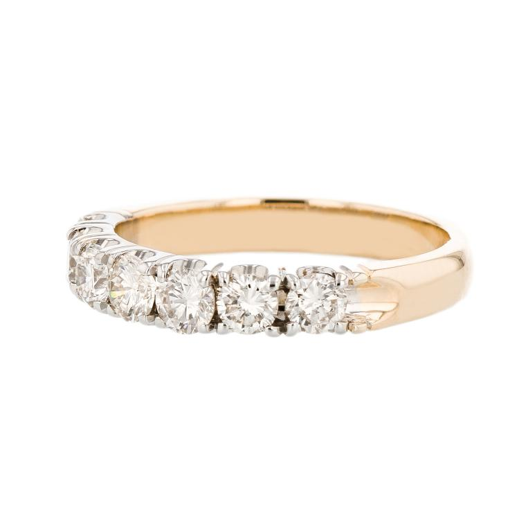Modern & Exquisite 14k Yellow Gold Ladies Diamond Ring - Brand New