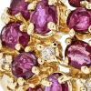 Exquisite Modern Ladies 14K Yellow Gold Ruby & Diamond Statement Ring - New
