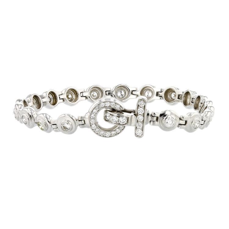 Exquisite Modern 14K White Gold Women's Diamond Bracelet 1.40CTW - Brand New