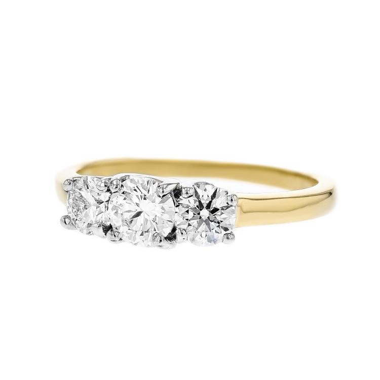 Elegant 14K Yellow Gold Women's Charming Diamond Ring 1.20CTW - Brand New