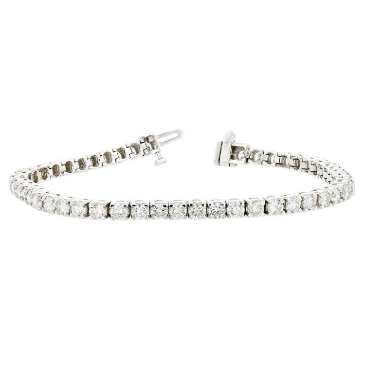 Elegant 14K White Gold Women's Diamond Tennis Bracelet 7.02CTW - Brand New