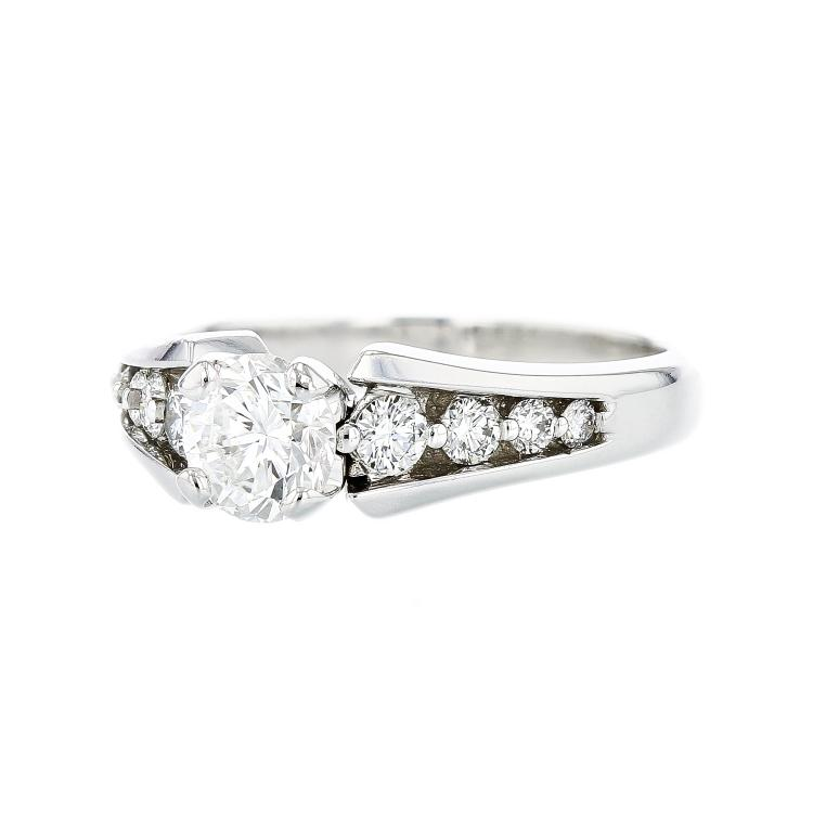 Stunning 14K White Gold Charming Diamond Women's Ring 1.12CTW - Brand New