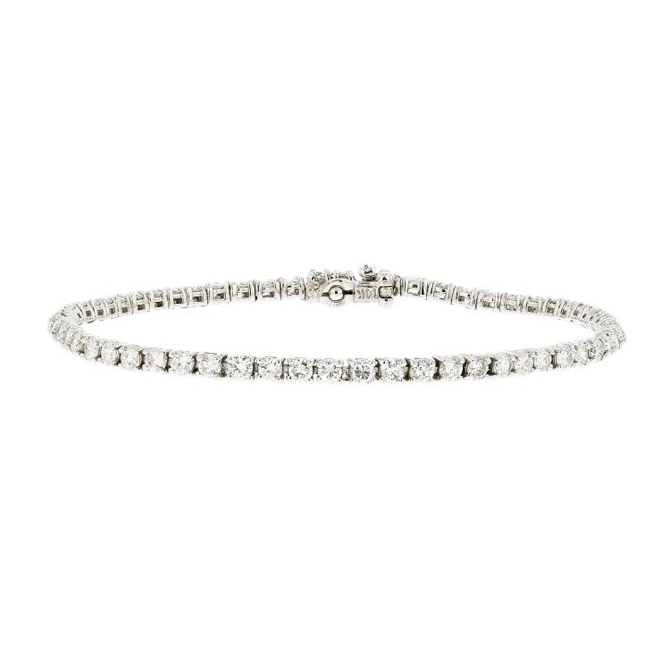 Exquisite 14K White Gold Women's Diamond Tennis Bracelet 3.73CTW - Brand New