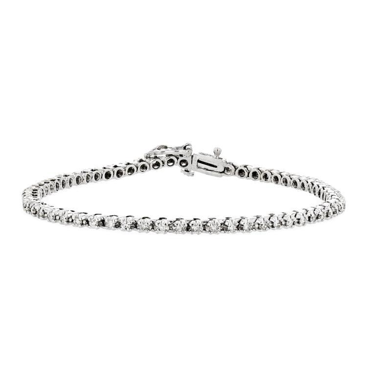 Beautiful 14K White Gold Women's Diamond Tennis Bracelet - Brand New