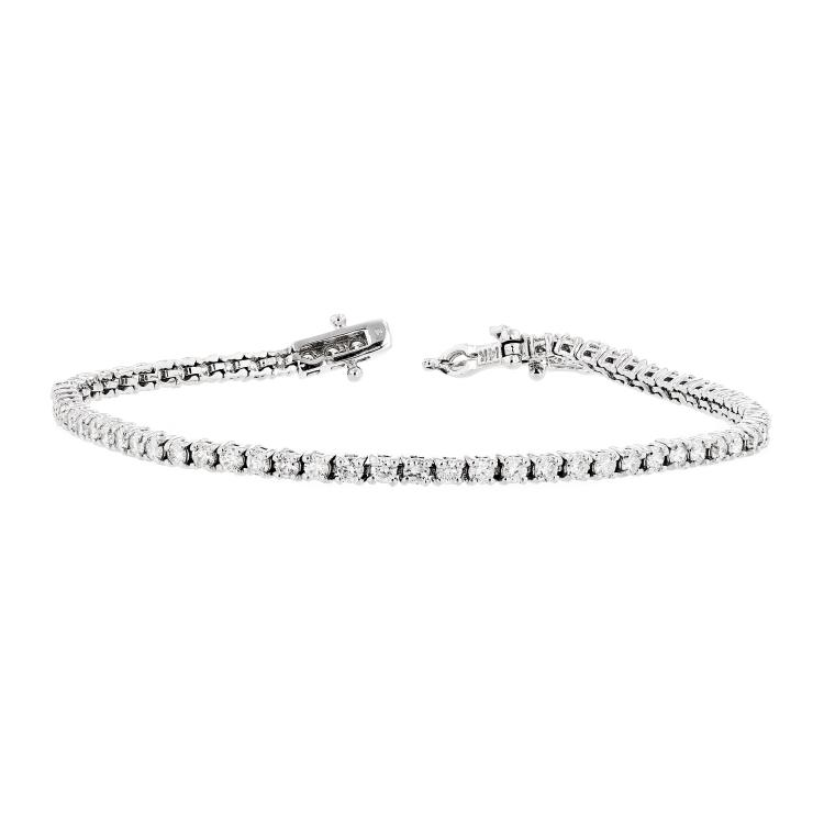 Elegant 14K White Gold Women's Stylish Diamond Tennis Bracelet 2.82CTW - Brand New