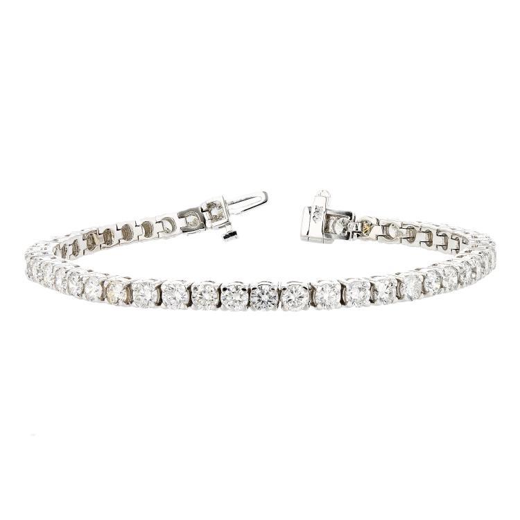 Elegant 14K White Gold Diamond Women's Tennis Bracelet 8.25CTW - Brand New