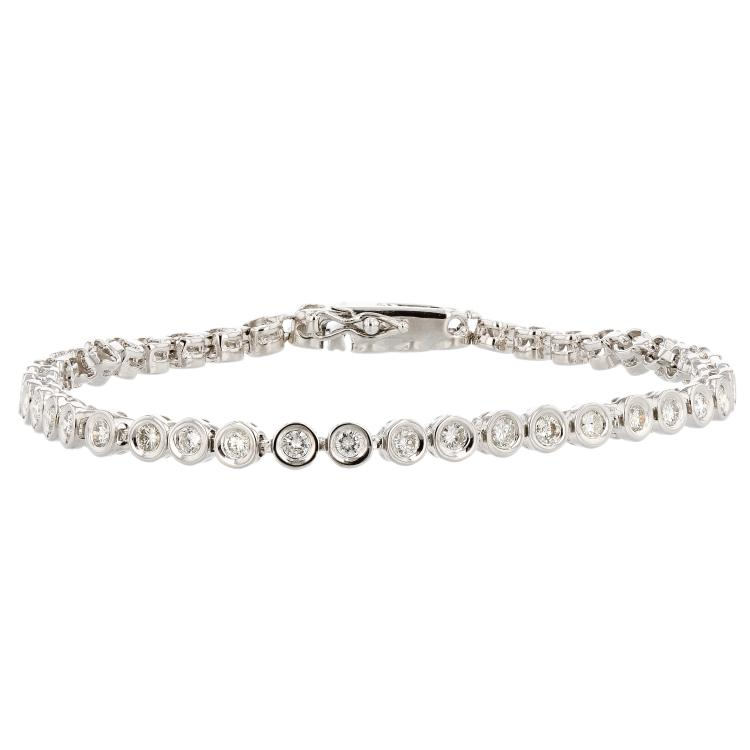 Elegant 14K White Gold Sparkling Diamond Women's Bracelet 1.62CTW - Brand New