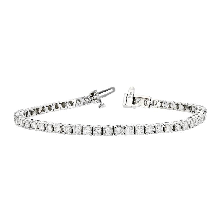 Stunning 14K White Gold Diamond Women's Tennis Bracelet 4.68CTW - Brand New