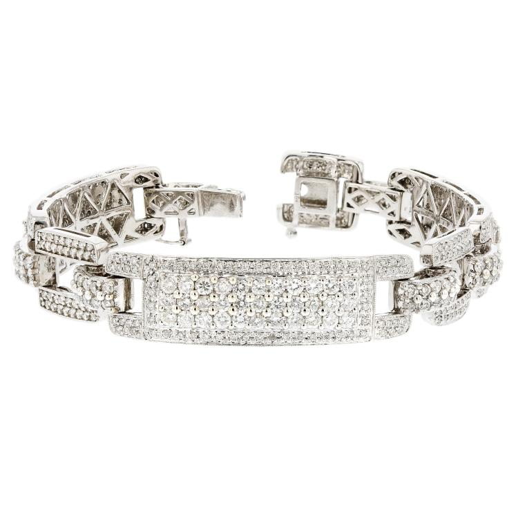 Beautiful & Charming 14K White Gold Diamond 8.80CTW Women's Bracelet - Brand New