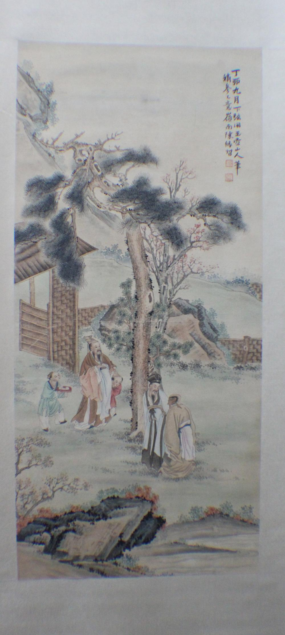 chinese scrolls for sale at online auction modern antique