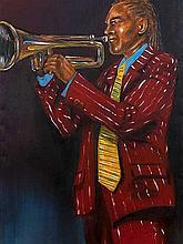 Berthold Moyo (Zimbabwean, born 1974) Oil, Trumpet