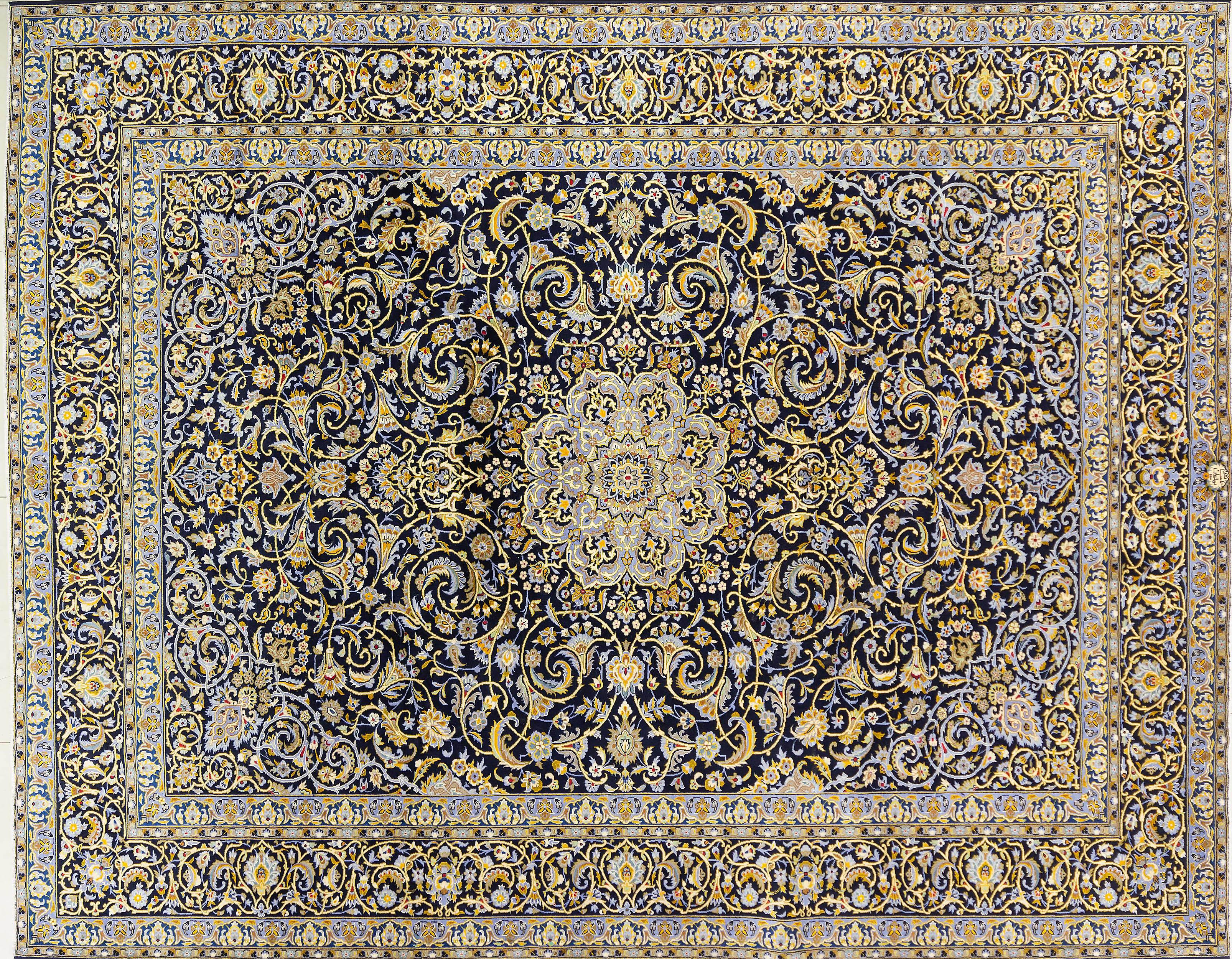 A Persian Hand Knotted Kashmar Carpet, 402 x 314