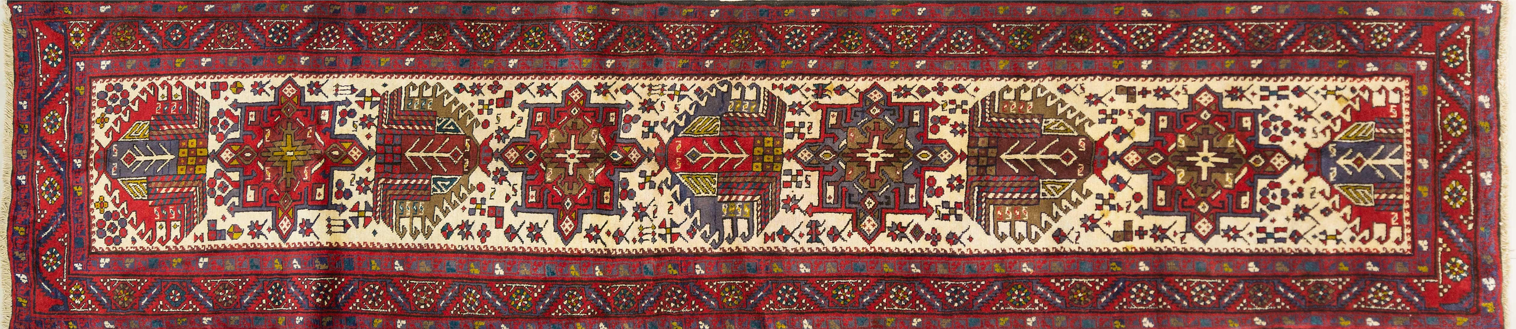 A Persian Hand Knotted Azari Runner, 445 x 92