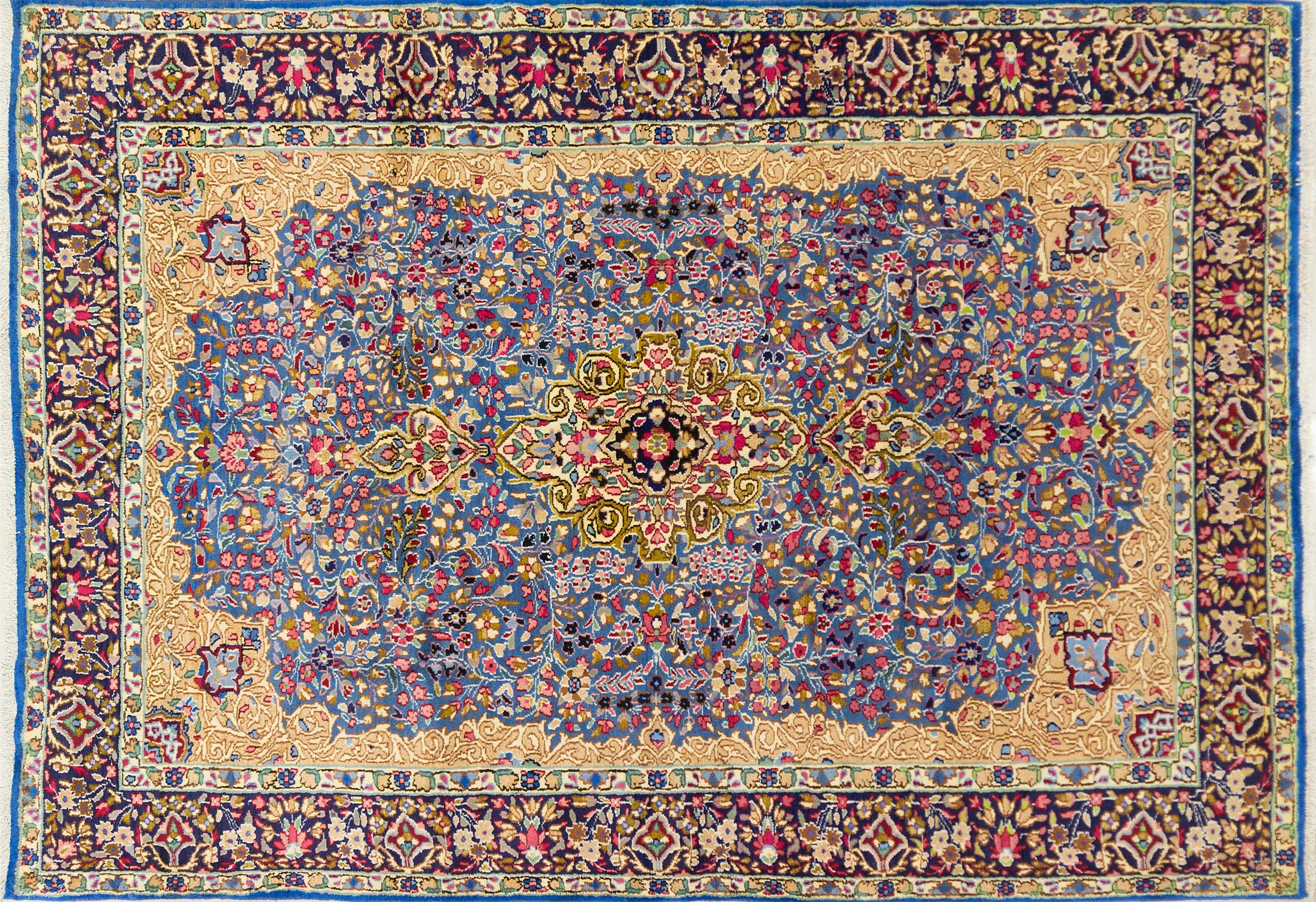 A Persian Hand Knotted Kerman Rug, 300 x 205