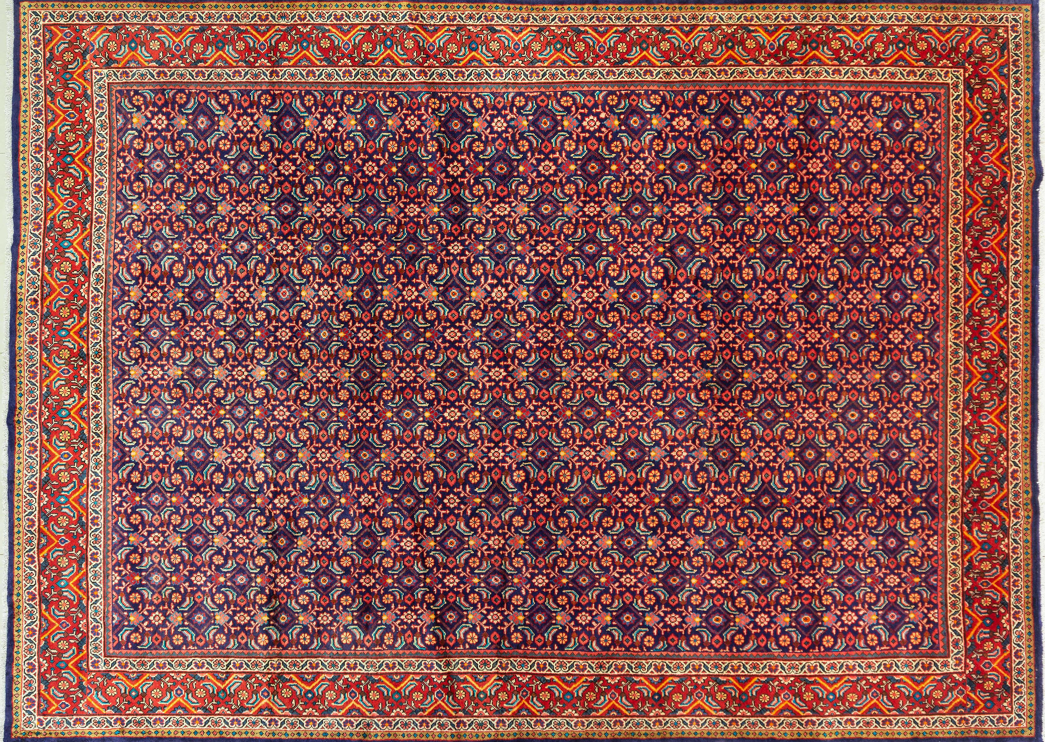 A Persian Hand Knotted Mahal Carpet, 415 x 300
