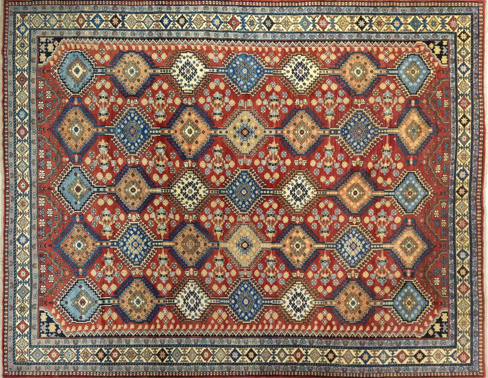 A Persian Hand Knotted Yalameh Carpet, 384 x 300