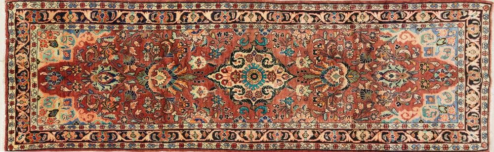 A Persian Hand Knotted Hamadan Runner, 330 x 104