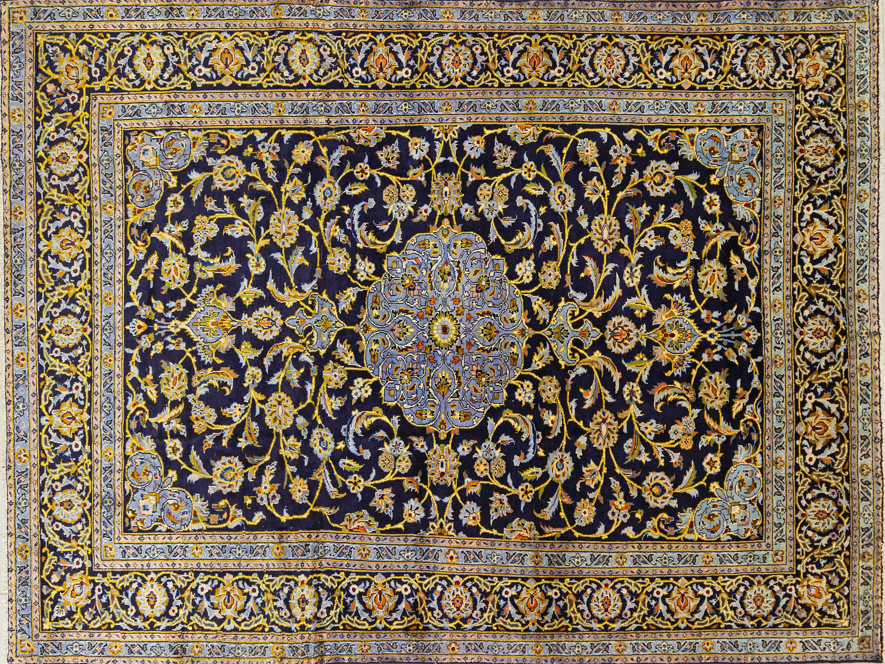A Persian Hand Knotted Kashan Carpet, 317 x 210