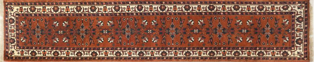 A Hand Knotted Kazak Runner, 404 x 79