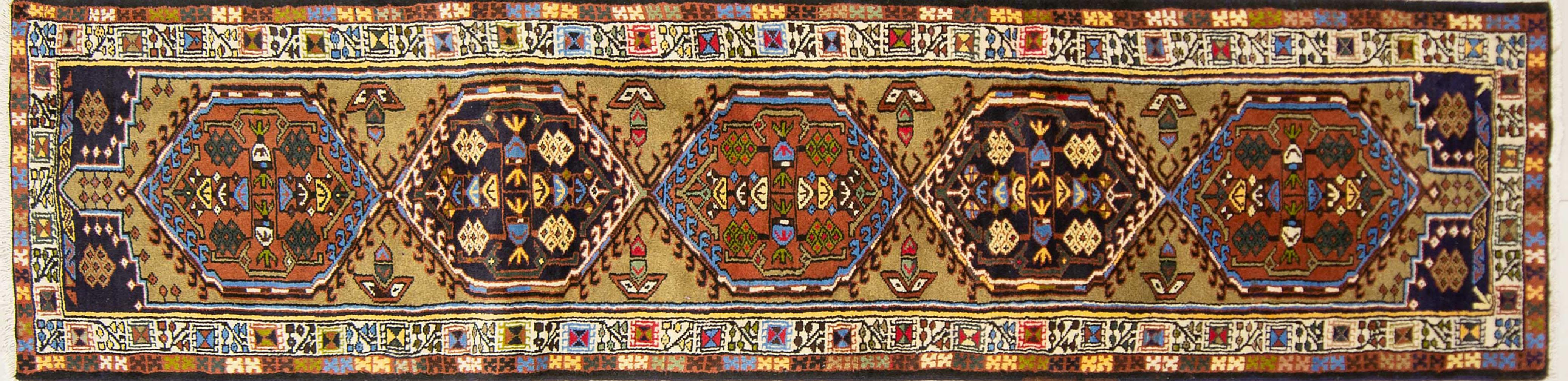 A Persian Hand Knotted Hamadan Runner, 279 x 67