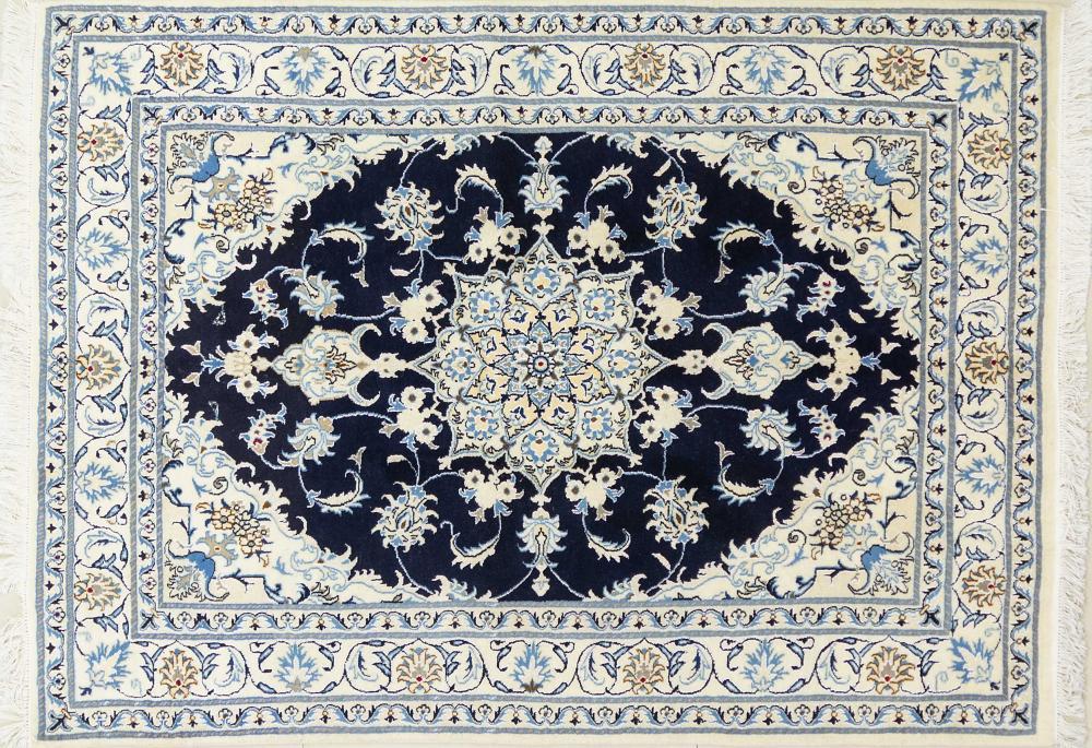 A Persian Hand Knotted Nain Rug, 210 x 152