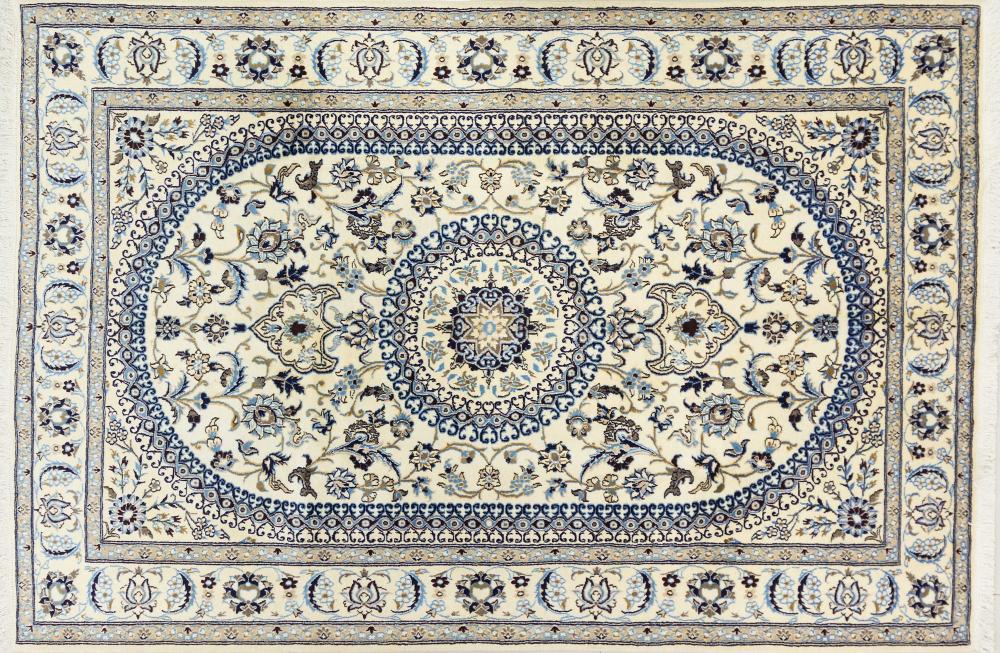 A Persian Hand Knotted Nain Carpet, 300 x 202